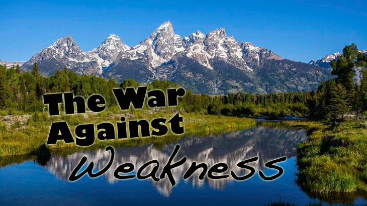 2017-03-25 The War Against Weakness
